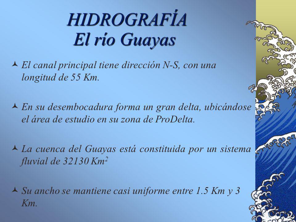 HIDROGRAFÍA El río Guayas El Río Guayas es estrictamente una ría o estuario, porque: Está influenciado directamente por las mareas. Sus canales actúan