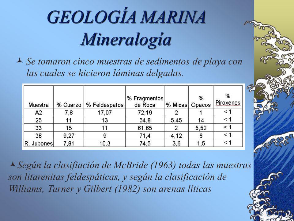 Sedimentos de Fondo Estuarino GEOLOGIA MARINA Grado de Asimetría