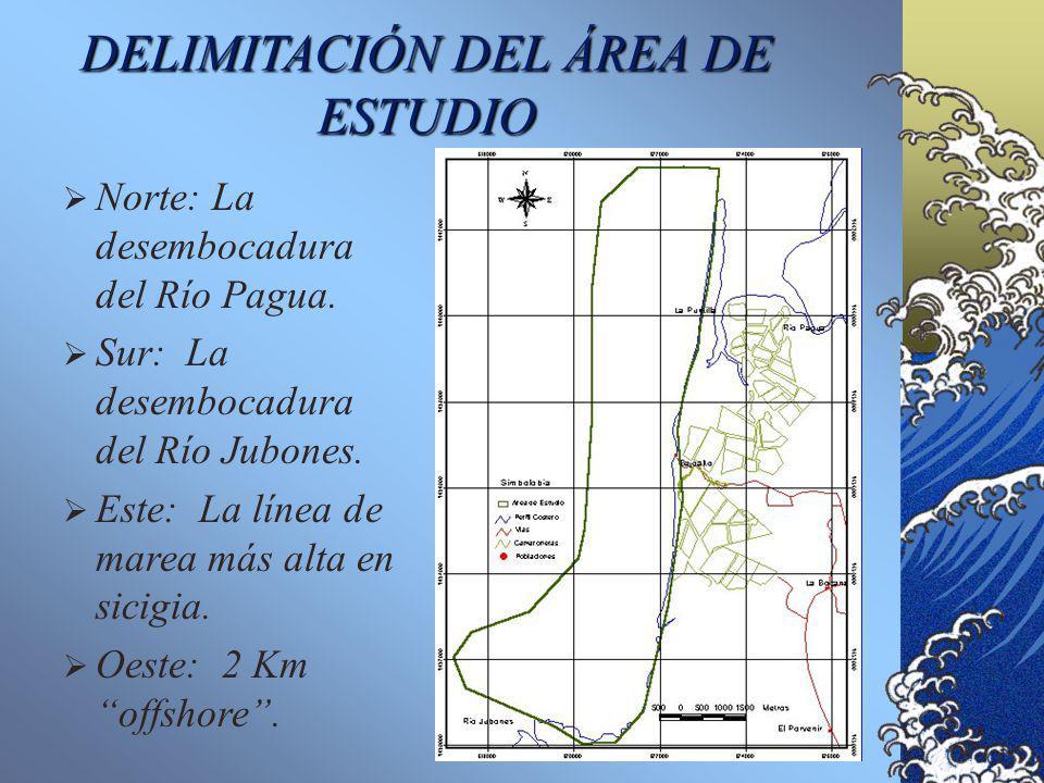 UBICACIÓN DEL ÁREA DE ESTUDIO Orilla SE del Canal de Jambelí.