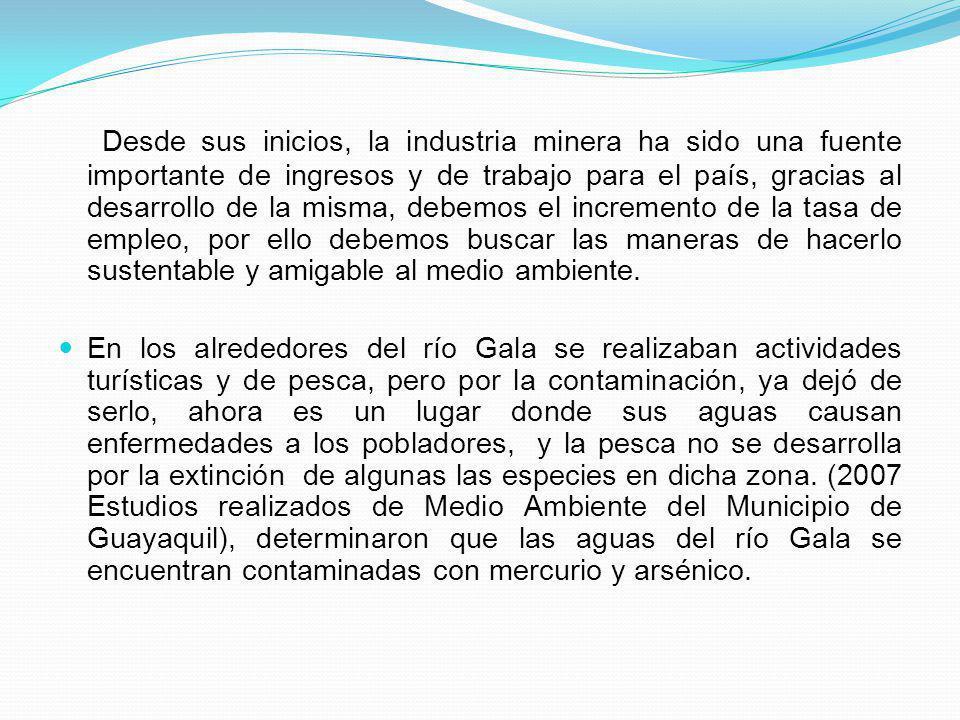 Desde sus inicios, la industria minera ha sido una fuente importante de ingresos y de trabajo para el país, gracias al desarrollo de la misma, debemos