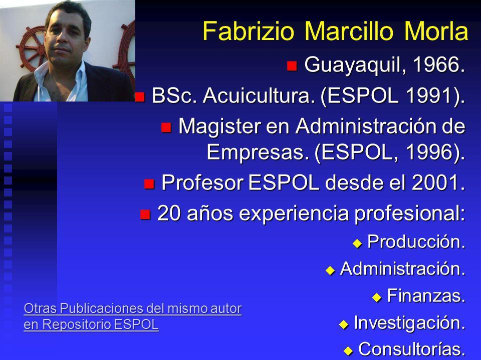 Estadios Larvarios Fabrizio Marcillo Morla MBA barcillo@gmail.com (593-9) 4194239