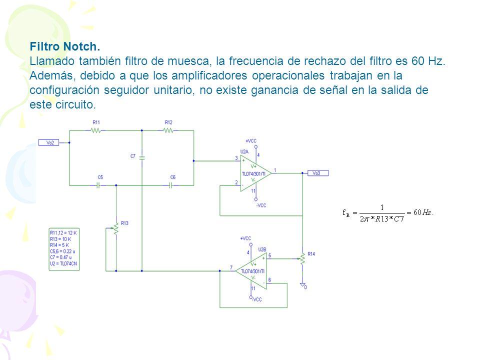 FILTROS Filtro Pasa-Banda. En este caso la banda de frecuencias que se deja pasar es de 0.05 a 105 Hz a 20 dB/dec. Adicionalmente, debido a que este c