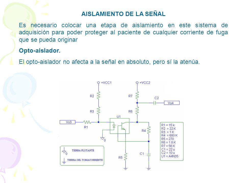 Filtro Notch. Llamado también filtro de muesca, la frecuencia de rechazo del filtro es 60 Hz. Además, debido a que los amplificadores operacionales tr