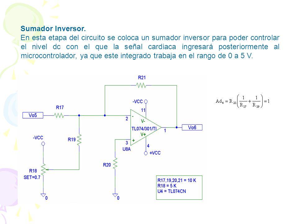 ACONDICIONAMIENTO DE LA SEÑAL Amplificador No Inversor. Se añade este circuito que brinda la ventaja de que además de darle amplificación a la señal d