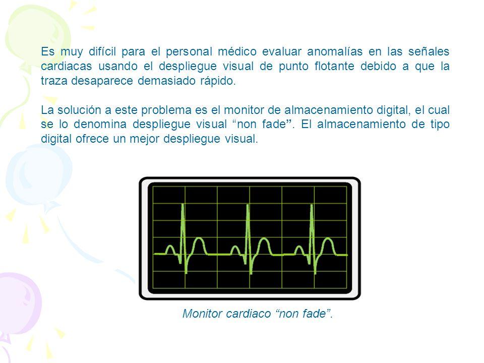 Ventajas de un monitor de EKG con memoria Los monitores de EKG tradicionales usan un haz de electrones para barrer la pantalla, escribiendo la forma d