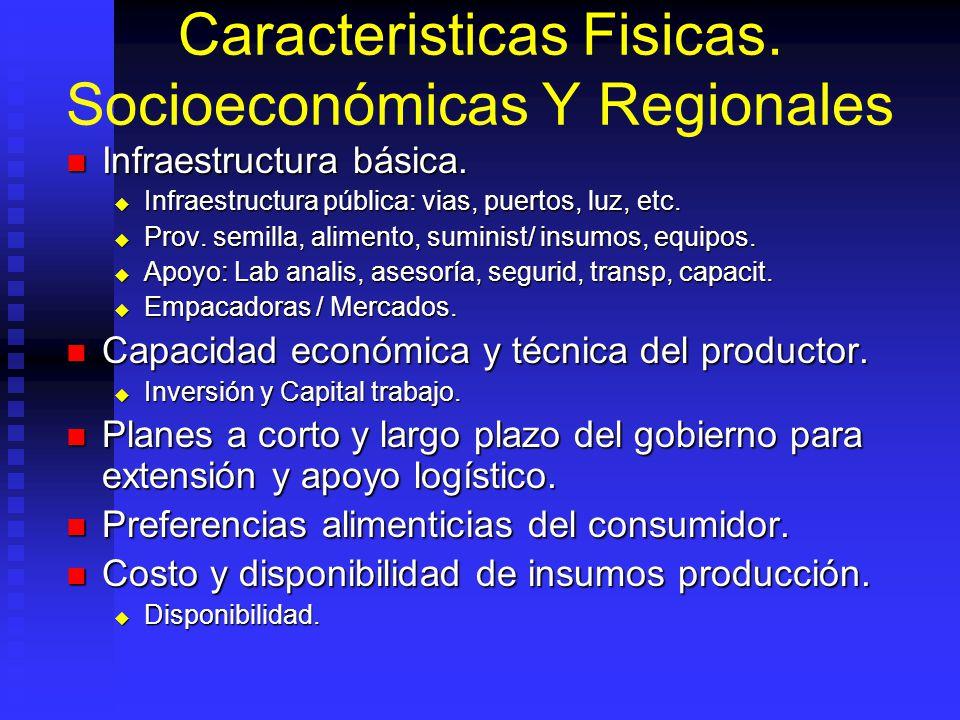 Caracteristicas Fisicas.Socioeconómicas Y Regionales Infraestructura básica.
