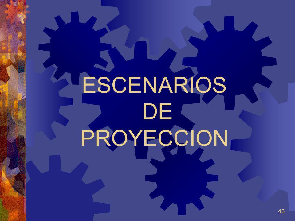 45 ESCENARIOS DE PROYECCION