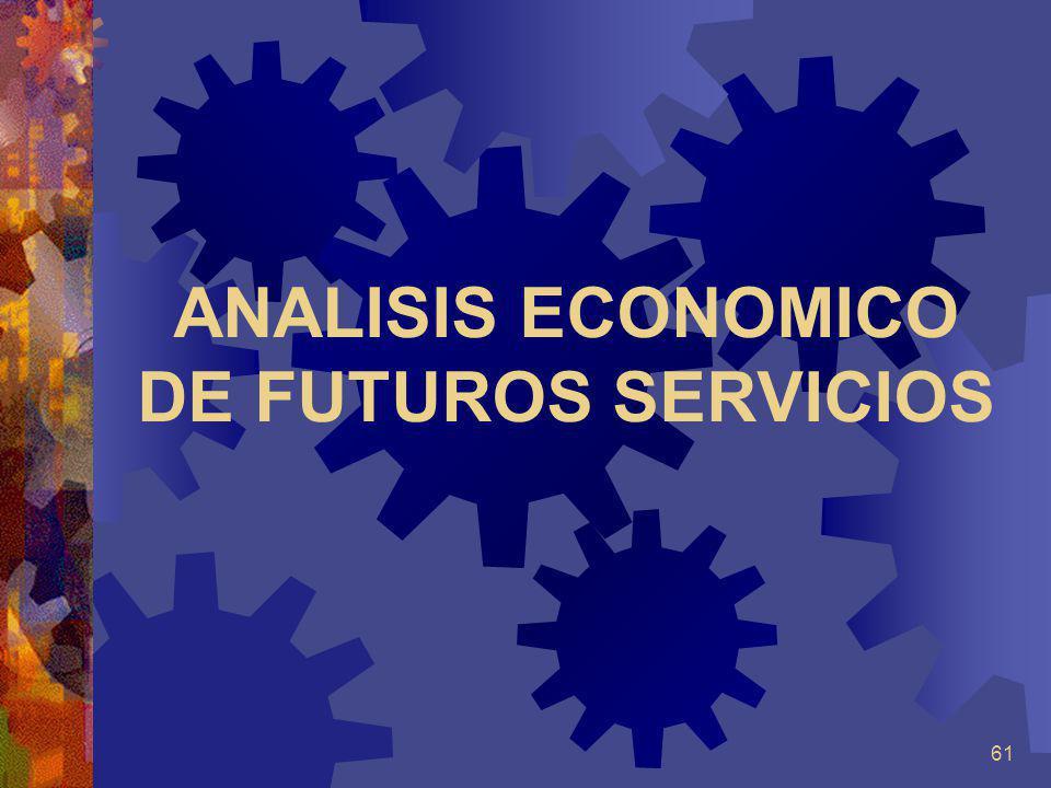61 ANALISIS ECONOMICO DE FUTUROS SERVICIOS