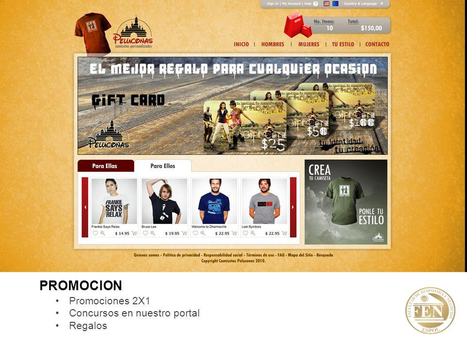 Promociones 2X1 Concursos en nuestro portal Regalos PROMOCION