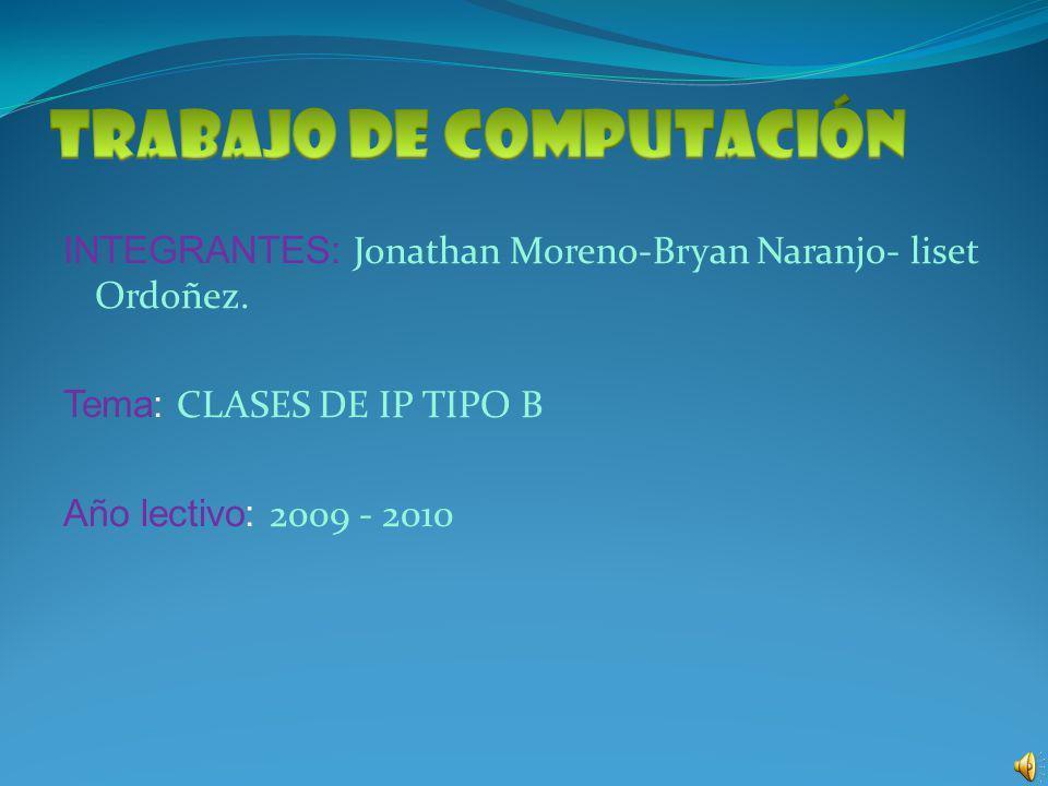 INTEGRANTES: Jonathan Moreno-Bryan Naranjo- liset Ordoñez.