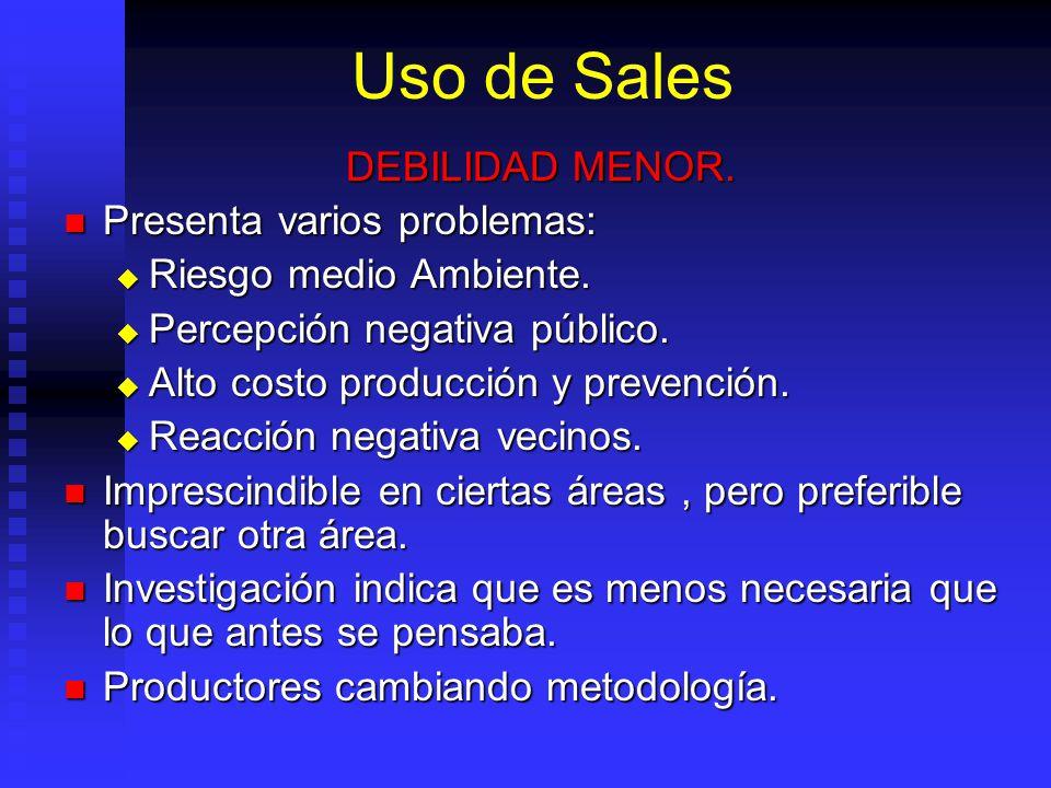 Uso de Sales DEBILIDAD MENOR.