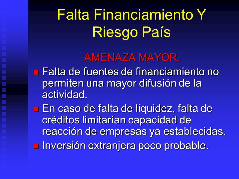 Falta Financiamiento Y Riesgo País AMENAZA MAYOR.
