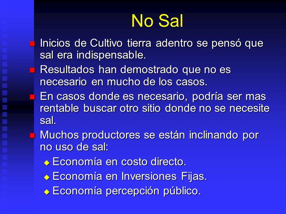 No Sal Inicios de Cultivo tierra adentro se pensó que sal era indispensable.