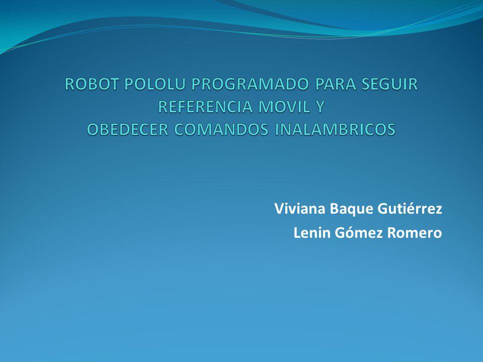 Código del receptor /Declaración de constantes #define F_CPU 20000000UL #define PIND_MASK ((1<<PIND0)|(1<<PIND1)) //Librerias a usar #include //Texto para la lcd const char welcome_line1[] PROGMEM = Pololu ; const char welcome_line2[] PROGMEM = 3\xf7 Robot ; const char name_line1[] PROGMEM = Wall ; const char name_line2[] PROGMEM = Follower ; //Tiempo de refresco de la pantalla const int display_interval_ms = 100; #define MS_ELAPSED_IS(n) (get_ms() % n == 0) #define TIME_TO_DISPLAY (MS_ELAPSED_IS(display_interval_ms)) //Prototipo de procedimientos void USART_Init( unsigned int ); unsigned char ReceiveByte (void); //Parametros iniciales configuracion 3pi void inicializar(){ //registro puerto b DDRB = 0x08; // set PORTD for output PORTB = 0x00; // set LEDs off //registro puerto c DDRC &= ~(1<< PORTC5); PORTC &= ~(1<< PORTC5); //registro puerto d DDRD = 0xFE; PORTD |= PIND_MASK; //Configuración de USART a 9600 baudios USART_Init(130);