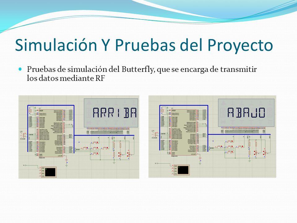Simulación Y Pruebas del Proyecto Pruebas de simulación del Butterfly, que se encarga de transmitir los datos mediante RF