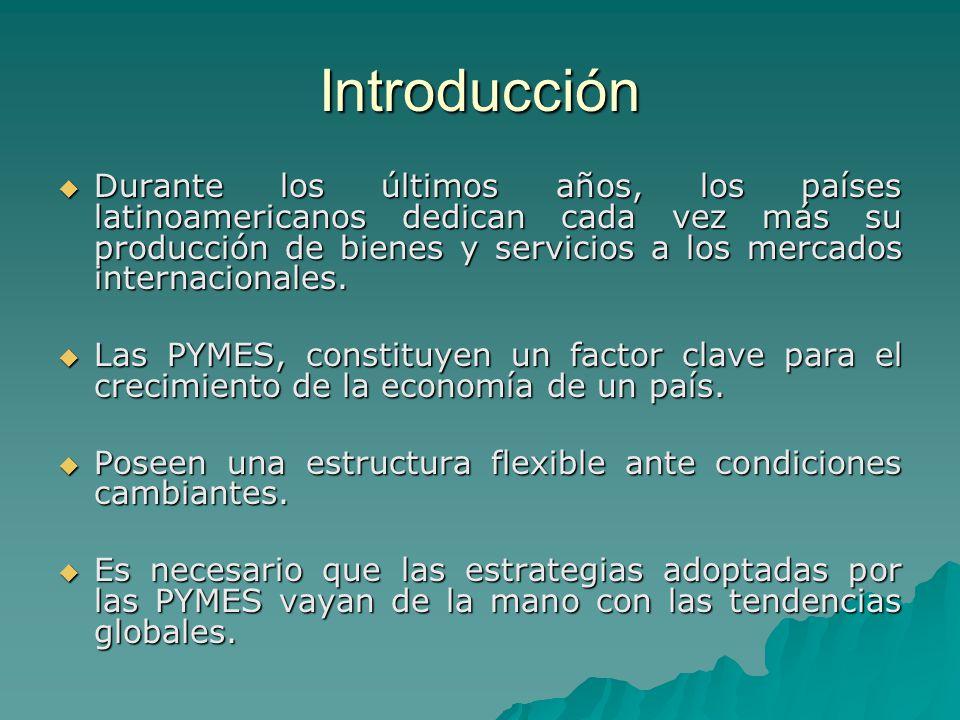 Introducción Durante los últimos años, los países latinoamericanos dedican cada vez más su producción de bienes y servicios a los mercados internacion