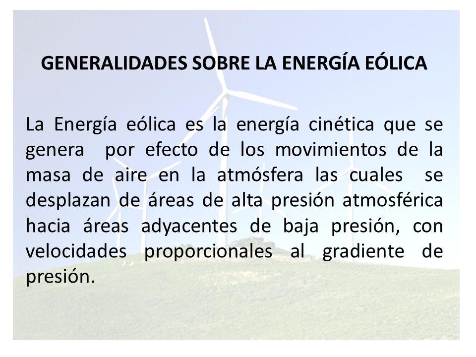 La energía del viento es utilizada mediante el uso de aeromotores los cuales son capaces de transformar la energía eólica en energía mecánica rotativa la que es utilizable, y esta a su vez para accionar directamente los generadores eléctricos, para la producción de energía eléctrica.