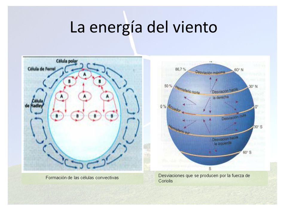 La energía del viento Anomalías locales y regionales de la circulación atmosférica La circulación atmosférica descrita tiene gran cantidad de peculiaridades debidas a: La presencia de masas continentales.