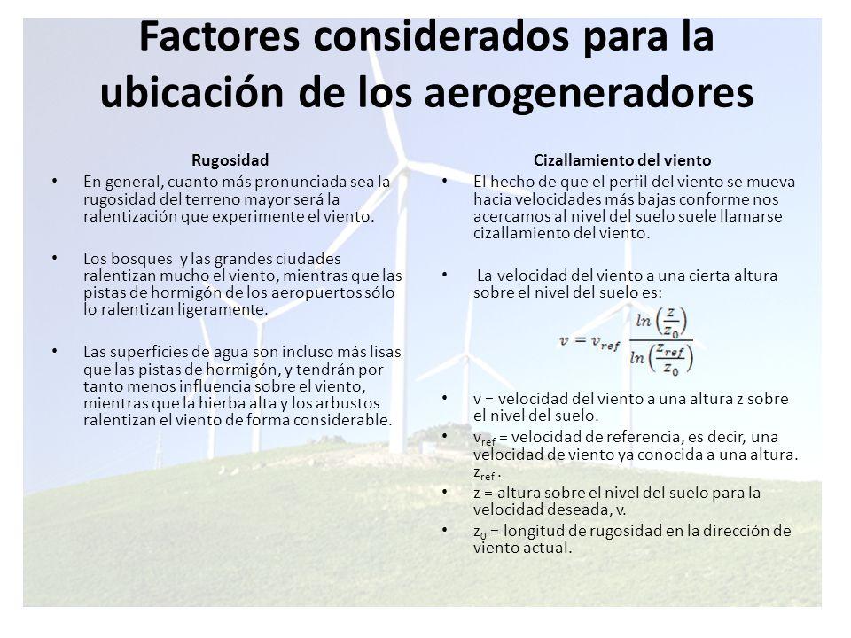 Efectos debido a obstáculos Las turbulencias disminuyen la posibilidad de utilizar la energía del viento de forma efectiva en un aerogenerador.