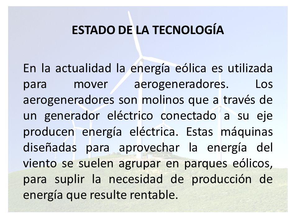 Los científicos calculan que hasta un 10% de la generación de electricidad mundial se podría obtener de generadores de energía eólica.