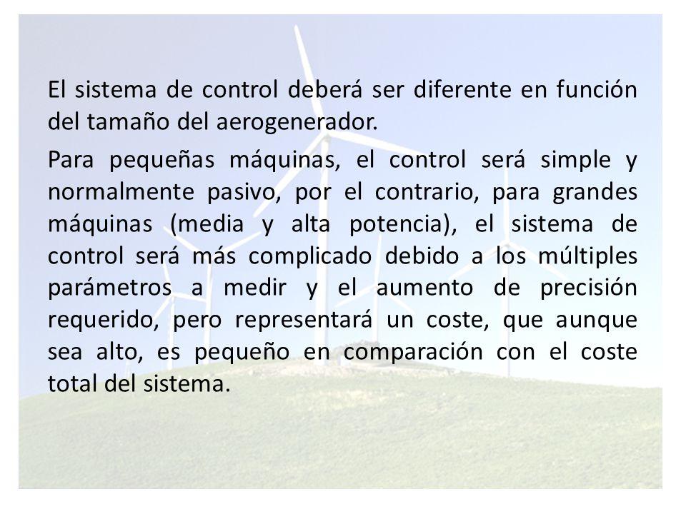 Los sistemas de controles actuales Se basan normalmente en microprocesadores, específicamente desarrollados para su uso en control de aerogeneradores.