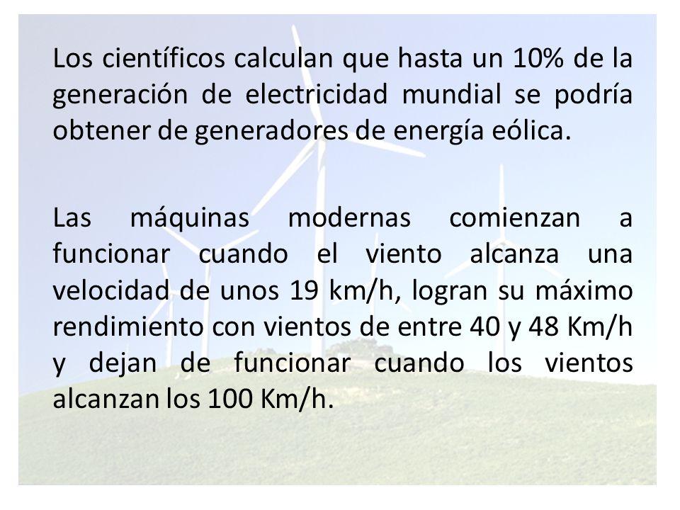 Situación actual a nivel mundial La energía eólica es la fuente de energía de mayor crecimiento porcentual del mundo.