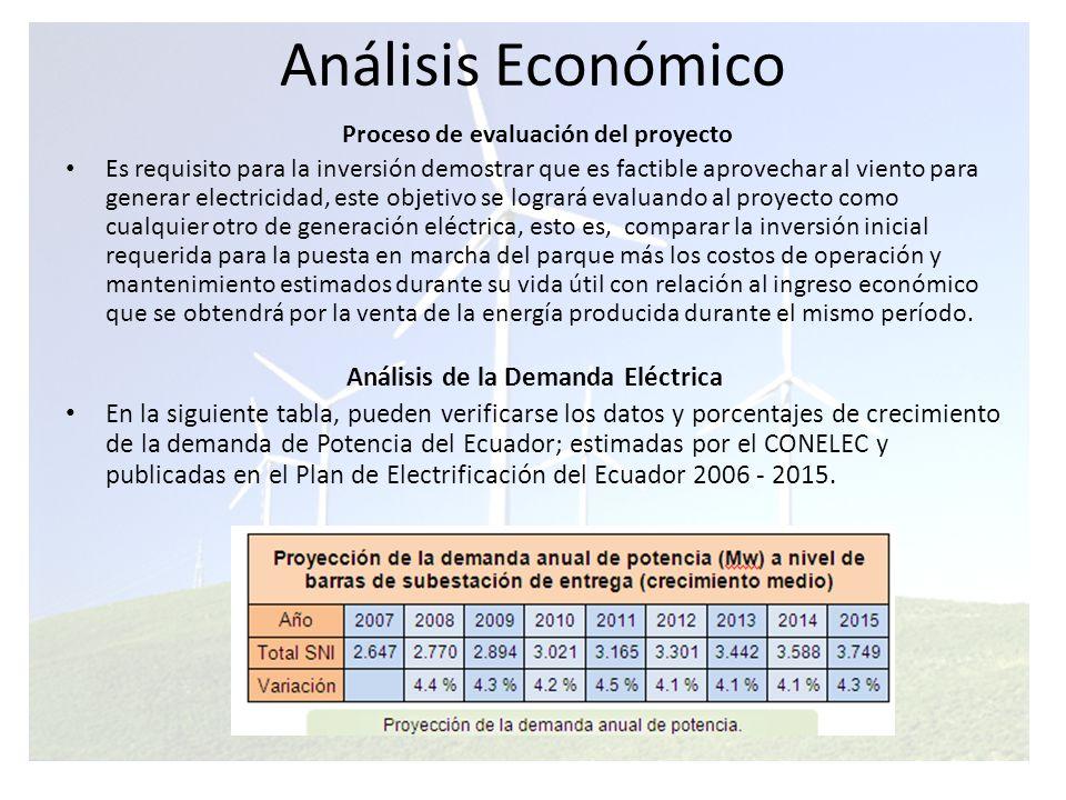 Análisis Económico Como se puede ver, existe un crecimiento sostenido en la demanda de potencia, adicional al hecho de que a través del sistema nacional interconectado, los posibles excesos de producción eléctrica pueden ser canalizados a cualquier zona del país que la necesite.