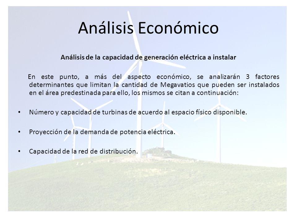 Análisis Económico Estudio de mercado y selección de Turbinas Eólicas