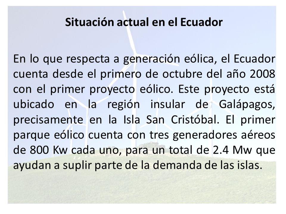 La granja eólica de San Cristóbal es la única instalada y en funcionamiento en todo el Ecuador.