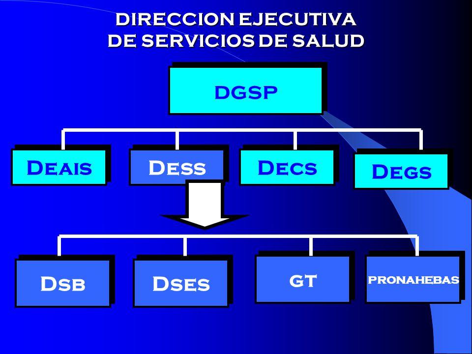 DIRECCION EJECUTIVA DE SERVICIOS DE SALUD dgsp Deais Dess Decs Degs pronahebas gt Dses Dsb