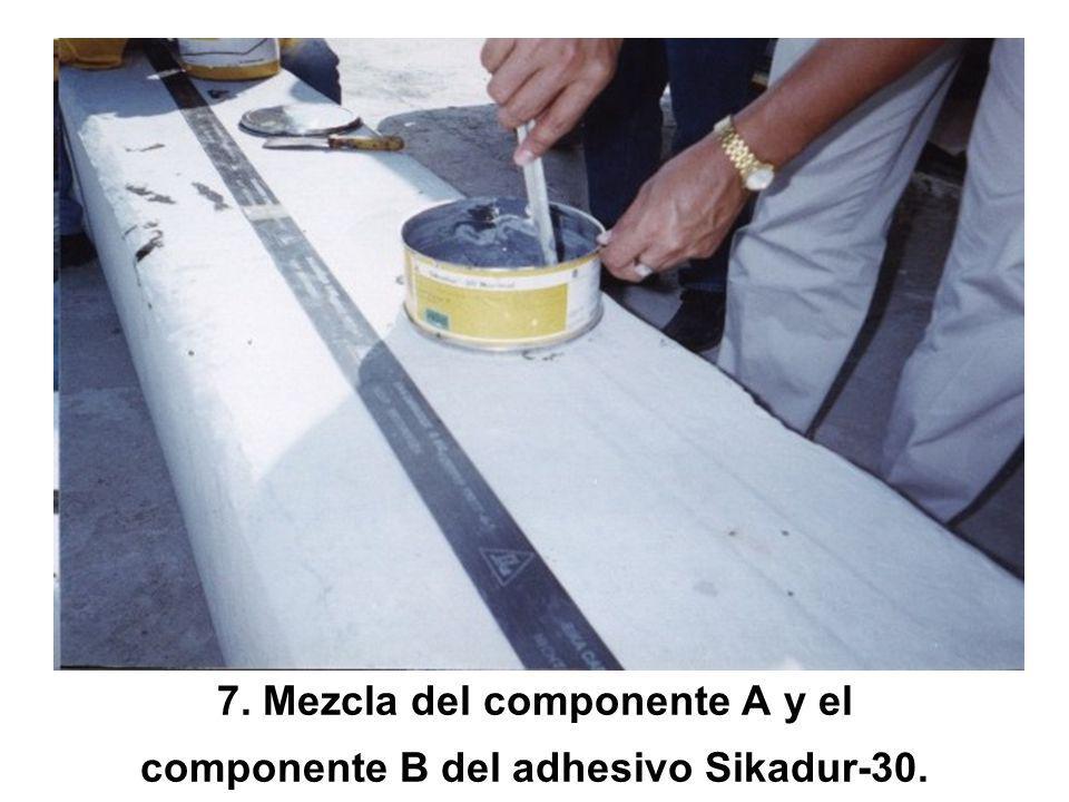 6. Limpieza de la superficie de la platina de carbono CFRP.
