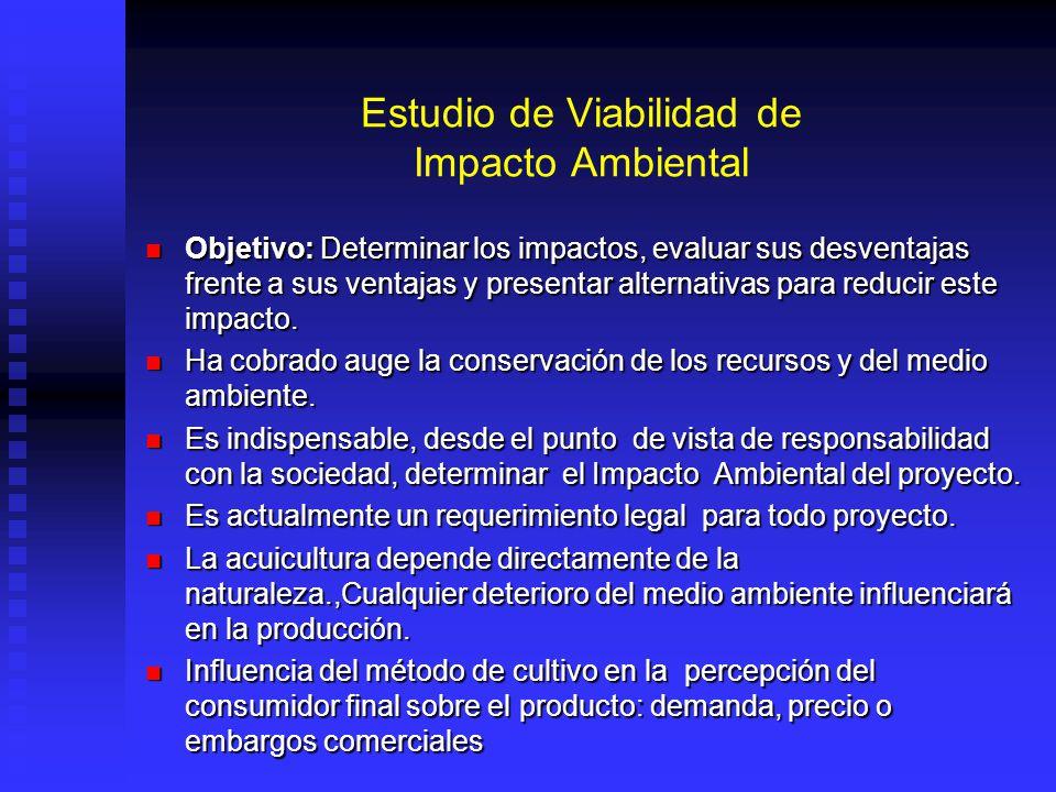 Estudio de Viabilidad de Impacto Ambiental Objetivo: Determinar los impactos, evaluar sus desventajas frente a sus ventajas y presentar alternativas p