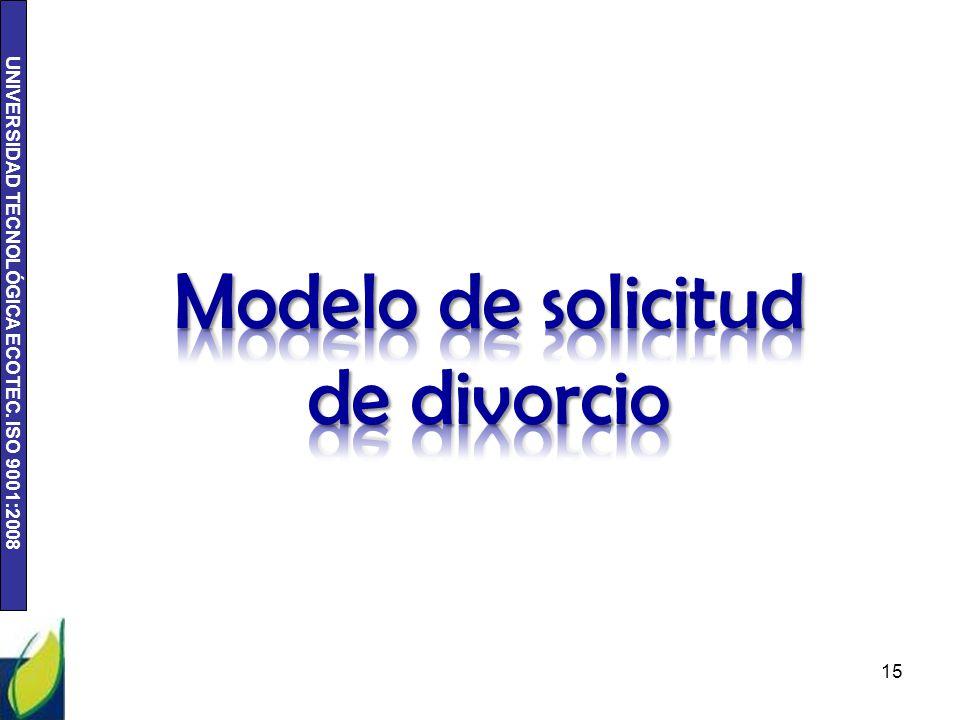UNIVERSIDAD TECNOLÓGICA ECOTEC. ISO 9001:2008 15