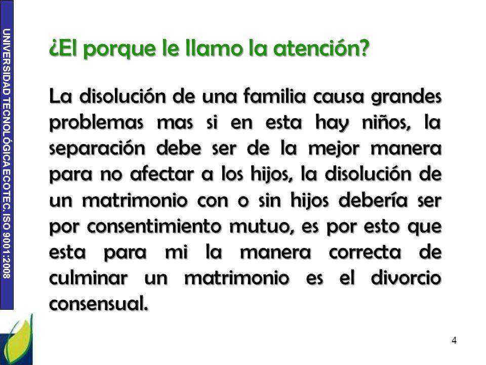 La disolución de una familia causa grandes problemas mas si en esta hay niños, la separación debe ser de la mejor manera para no afectar a los hijos,