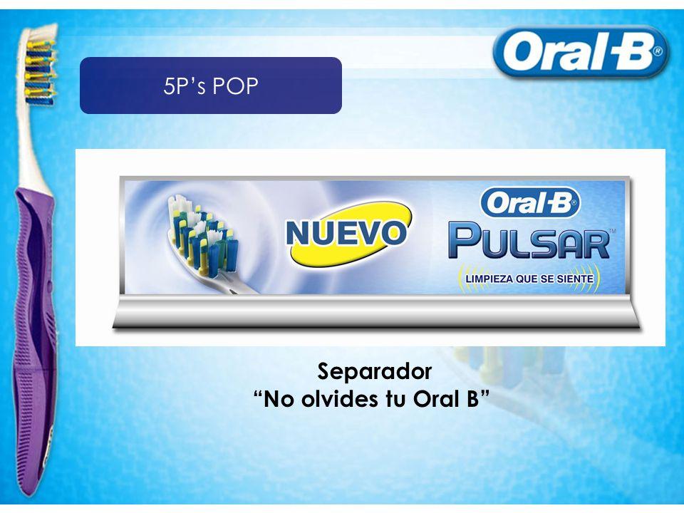 Separador No olvides tu Oral B 5Ps POP