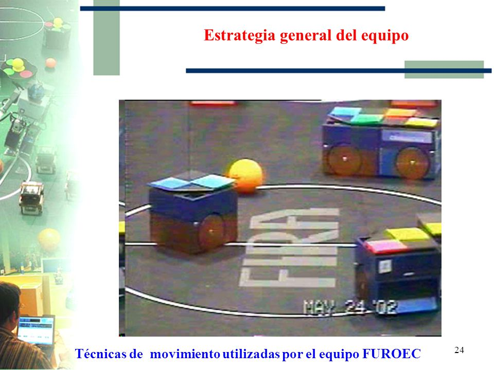 23 Estrategia general del equipo Técnicas de movimiento utilizadas por el equipo FUROEC