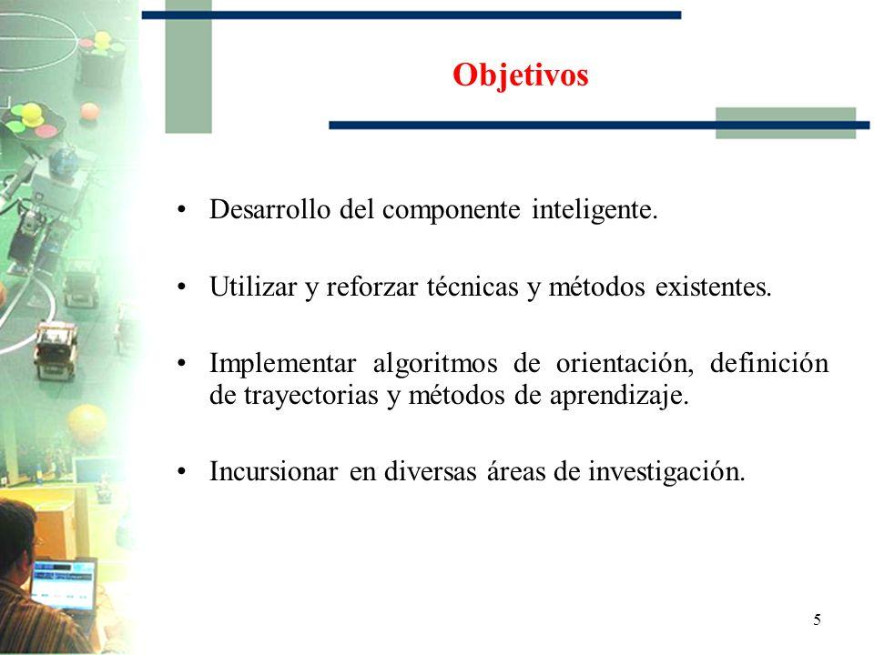 5 Objetivos Desarrollo del componente inteligente.