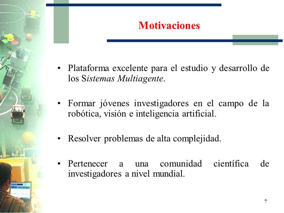 7 Motivaciones Plataforma excelente para el estudio y desarrollo de los Sistemas Multiagente.