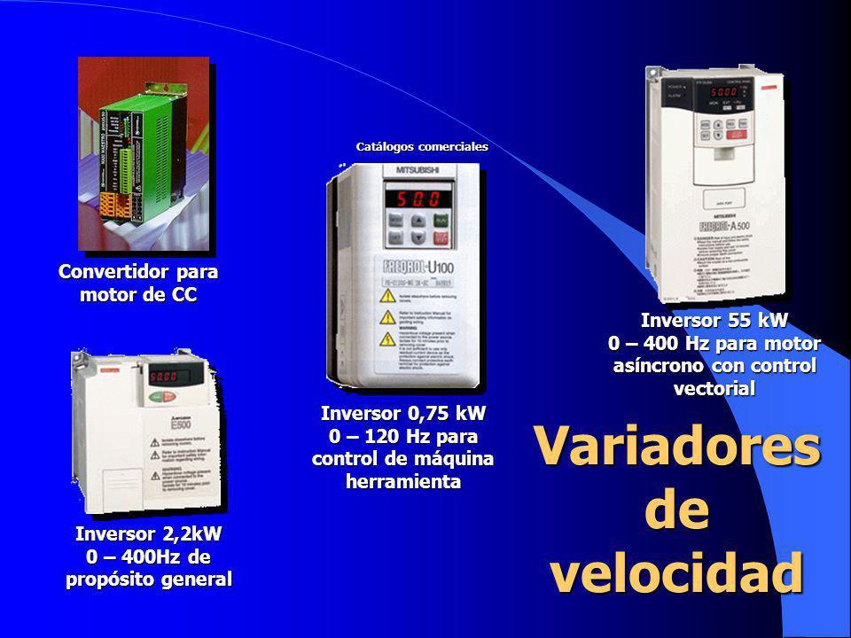 Inversor 55 kW 0 – 400 Hz para motor asíncrono con control vectorial Inversor 0,75 kW 0 – 120 Hz para control de máquina herramienta Inversor 2,2kW 0