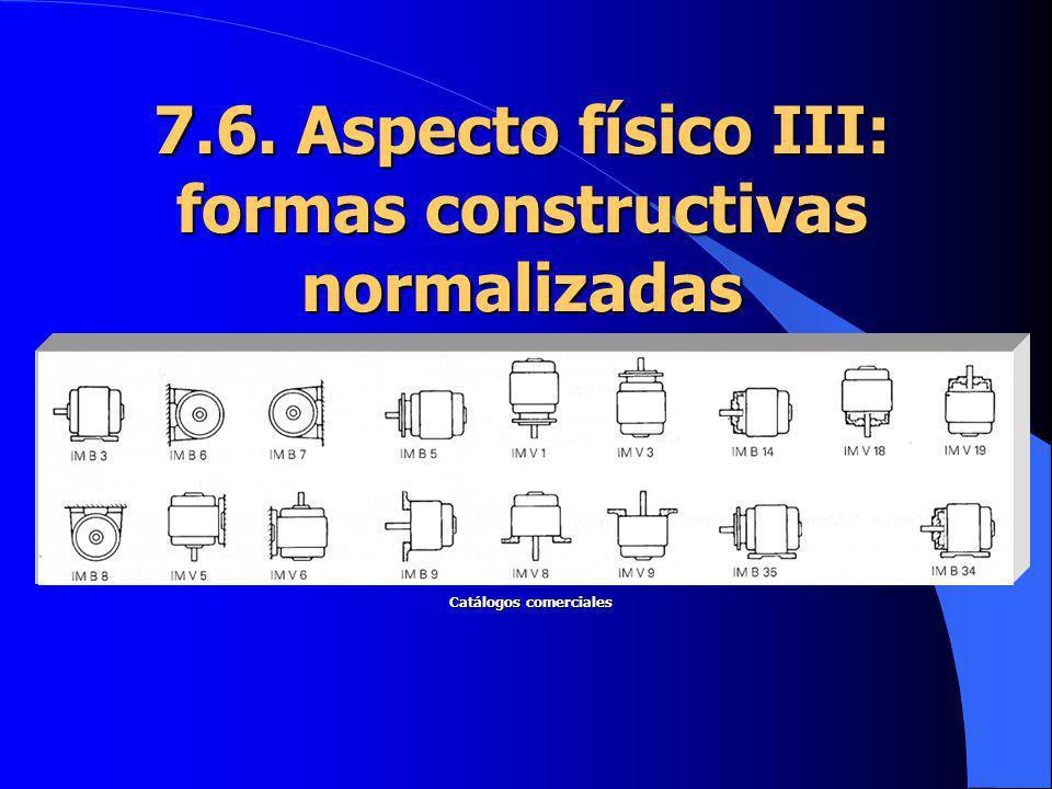 7.6. Aspecto físico III: formas constructivas normalizadas Catálogos comerciales