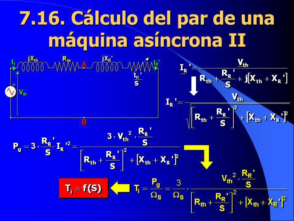 7.16. Cálculo del par de una máquina asíncrona II