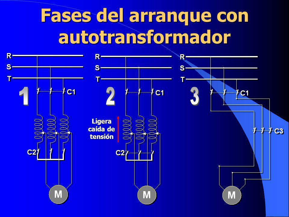 Fases del arranque con autotransformador Ligera caída de tensión