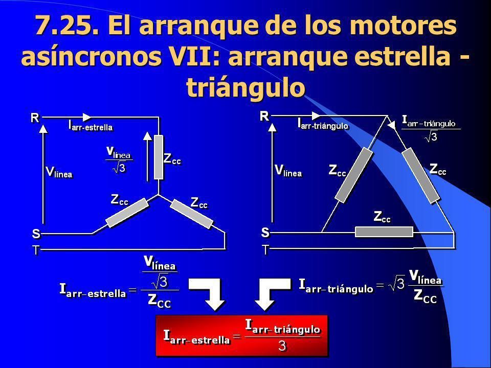 7.25. El arranque de los motores asíncronos VII: arranque estrella - triángulo