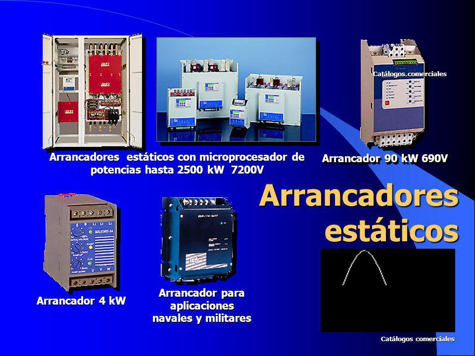 Arrancadores estáticos con microprocesador de potencias hasta 2500 kW 7200V Arrancador 90 kW 690V Arrancador 4 kW Arrancador para aplicaciones navales