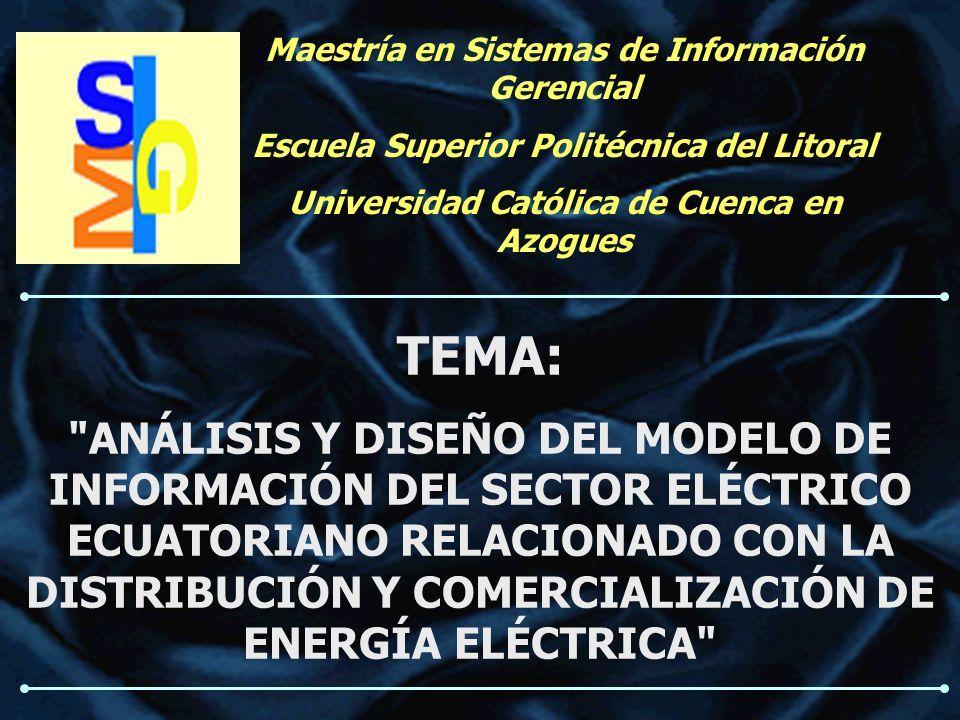 Maestría en Sistemas de Información Gerencial Escuela Superior Politécnica del Litoral Universidad Católica de Cuenca en Azogues TEMA: