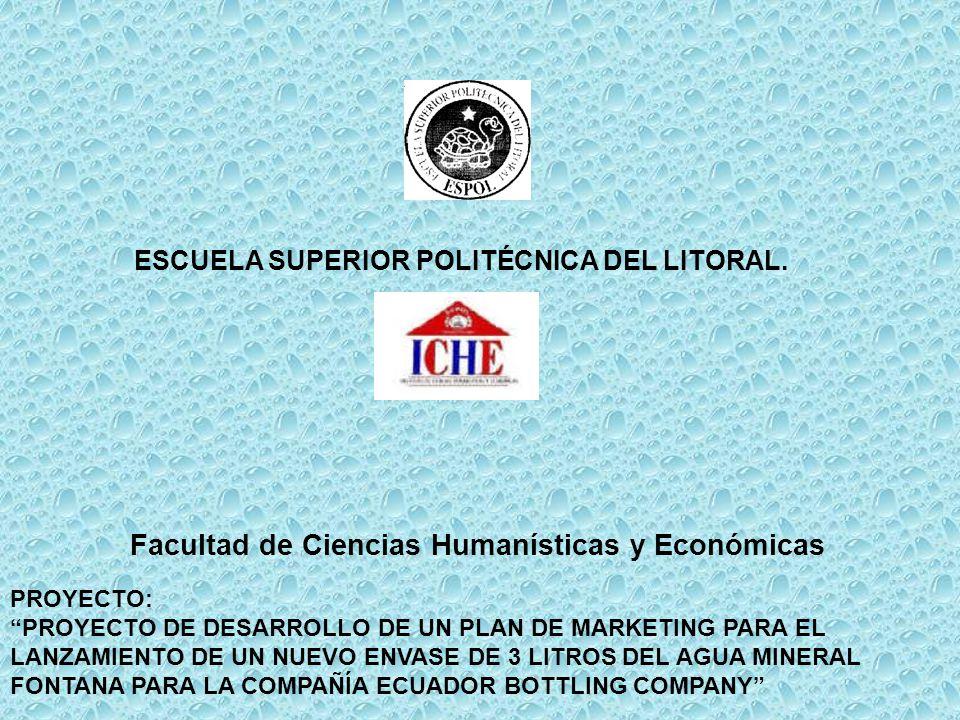 ESCUELA SUPERIOR POLITÉCNICA DEL LITORAL. Facultad de Ciencias Humanísticas y Económicas PROYECTO: PROYECTO DE DESARROLLO DE UN PLAN DE MARKETING PARA
