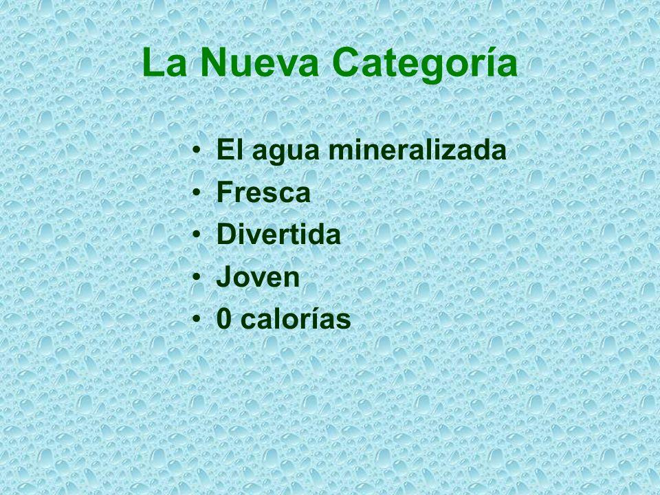 La Nueva Categoría El agua mineralizada Fresca Divertida Joven 0 calorías