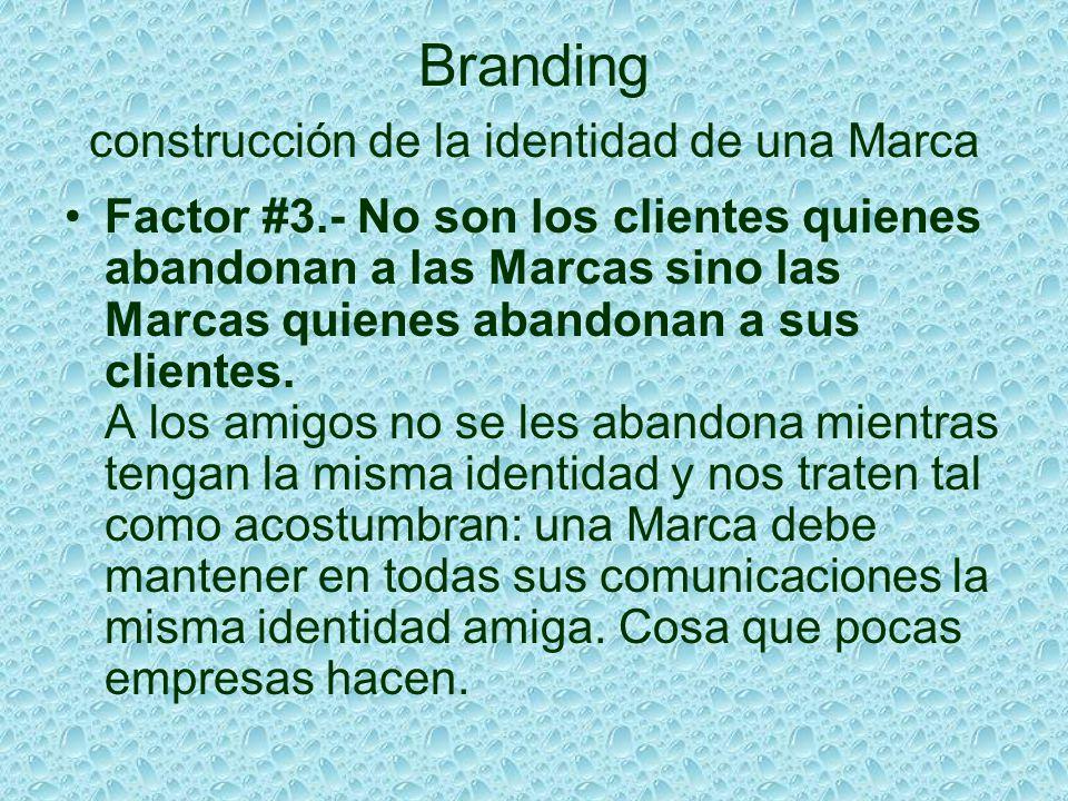 Branding construcción de la identidad de una Marca Factor #3.- No son los clientes quienes abandonan a las Marcas sino las Marcas quienes abandonan a