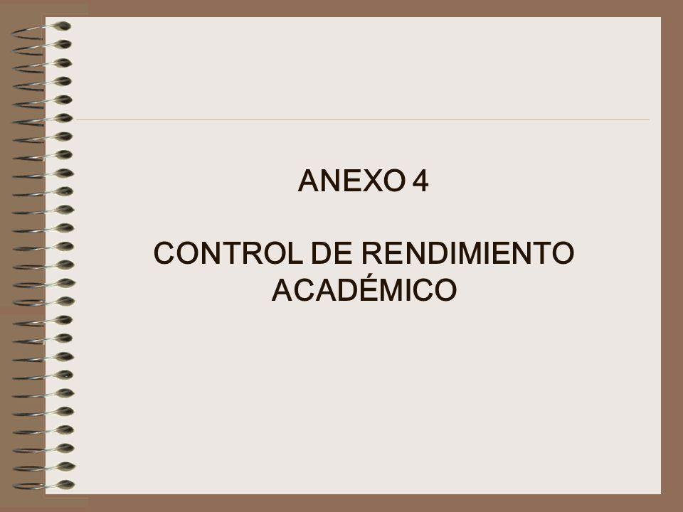 ANEXO 4 CONTROL DE RENDIMIENTO ACADÉMICO