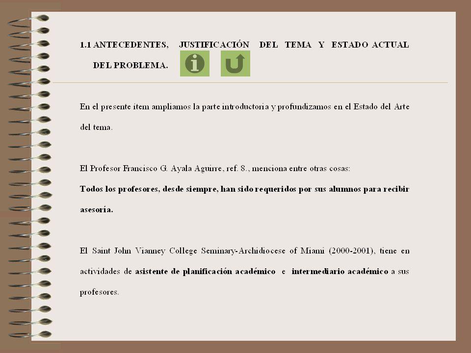 CAPÍTULO I FUNDAMENTO TEÓRICO PARA EL TRABAJO DE ASESORAMIENTO DEL PROFESOR CONSEJERO ACADÉMICO-PROFESIONAL